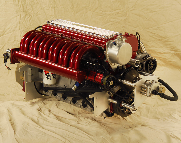 Falconer L6 Custom Boat Engine For Mahogany Race Boat Replica